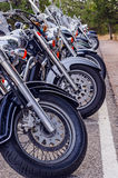 Motorcycles parked Royalty Free Stock Photography