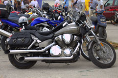 Motorcycles parked Royalty Free Stock Photo