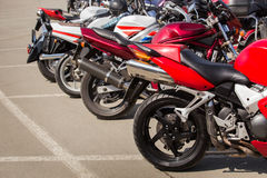 Motorcycles on parking Stock Image