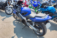 Motorcycles on parking Royalty Free Stock Photography