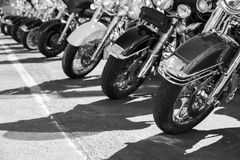 Motorcycles parking Stock Photography