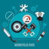 Motorcycles Parts Design Concept Stock Images