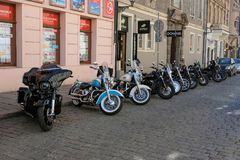 Motorcycles stock image