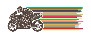 Motorcycles Racing graphic. Motorcycles Racing art graphic vector Stock Photography