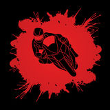 Motorcycles Racing graphic. Motorcycle racing designed on splatter blood background graphic vector Stock Images