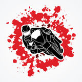 Motorcycles Racing graphic. Motorcycle racing designed on splatter blood background graphic vector Stock Photo