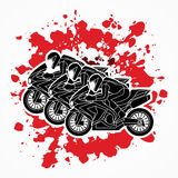 3 Motorcycles Racing graphic. Vector Stock Photos
