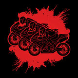 3 Motorcycles Racing graphic. Vector Royalty Free Stock Photo
