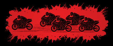 5 Motorcycles Racing graphic. Vector Stock Photos
