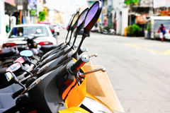 Motorcycles rental Royalty Free Stock Photography