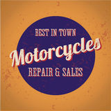Motorcycles repair and sales - best in town - vint Stock Image