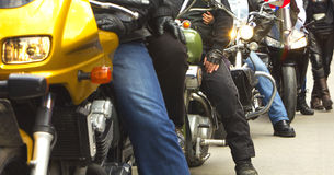 Motorcycles and riders Royalty Free Stock Image