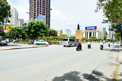 Motorcycles riders in Ho Chi Minh city Royalty Free Stock Images