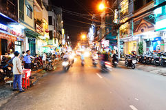 Motorcycles riders in Ho Chi Minh city Stock Photography