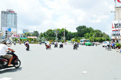 Motorcycles riders in Ho Chi Minh city Royalty Free Stock Image