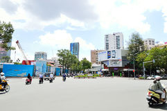 Motorcycles riders in Ho Chi Minh city Stock Photo
