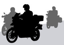 Motorcycles on road Royalty Free Stock Images