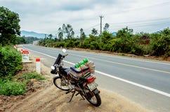 Motorcycles on the road. In Daklak, Viet Nam Stock Photos