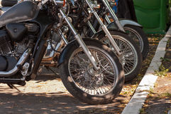 Motorcycles in a row Royalty Free Stock Image