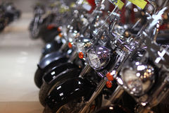 Motorcycles in a row Royalty Free Stock Photography