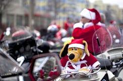 Motorcycles of Santa Claus Royalty Free Stock Image