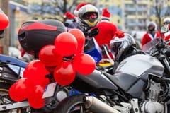 Motorcycles of Santa Claus Royalty Free Stock Images