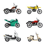 Motorcycles and scooters Royalty Free Stock Photos