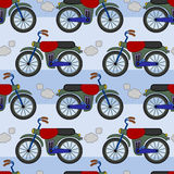 Motorcycles seamless background design Royalty Free Stock Photo