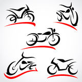 Motorcycles set. Vector. Moto engine, ride Stock Photography