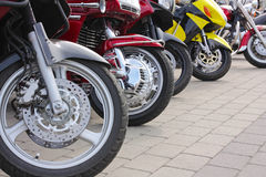 Motorcycles in the street Royalty Free Stock Photos