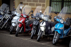 Motorcycles in the streets of Italian cities Stock Images