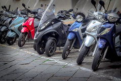 Motorcycles in the streets of Italian cities Stock Photo