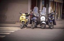 Motorcycles in the streets of Italian cities Stock Photography