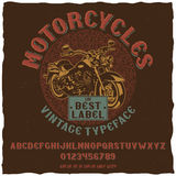 Motorcycles Vintage Label Typeface Poster Stock Images
