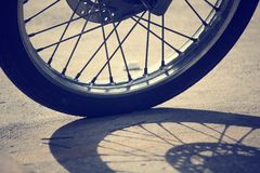 Motorcycles wheels Stock Images