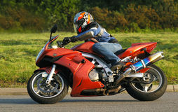 Motorcycling Stock Image