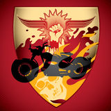Motorcycling background. Royalty Free Stock Images