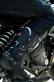 Motorcycling boots Stock Photos