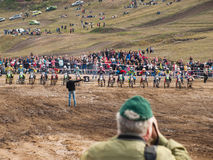 Motorcycling competitions, cross championship Royalty Free Stock Images