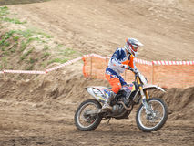 Motorcycling competitions, cross championship Stock Photos