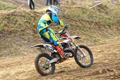 Motorcycling competitions, cross championship Stock Images