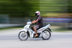 Motorcycling Panning In Thailand Stock Image