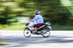 Motorcycling Panning In Thailand Royalty Free Stock Image