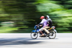 Motorcycling Panning In Thailand Royalty Free Stock Photo