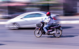 Motorcycling Panning In Thailand Royalty Free Stock Images