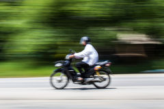 Motorcycling Panning In Thailand Stock Photos