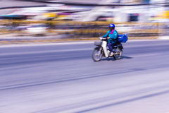 Motorcycling Panning In Thailand Stock Photography
