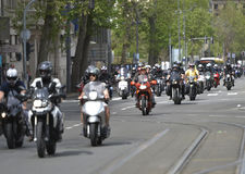 Motorcycling season opening Stock Images