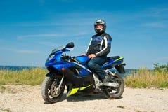 motorcyclist Royaltyfria Bilder