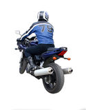 The motorcyclist stock image